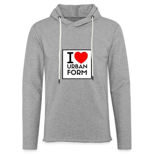 I LOVE URBAN FORM - Sweat-shirt à capuche léger unisexe