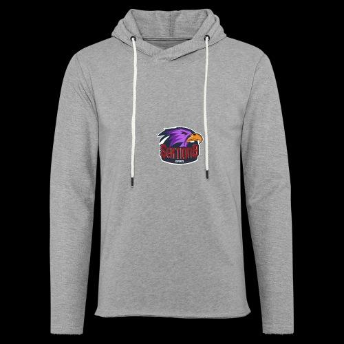 Sektion9 logo lila - Leichtes Kapuzensweatshirt Unisex