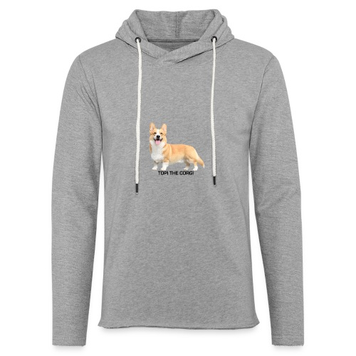 Topi the Corgi - Black text - Light Unisex Sweatshirt Hoodie