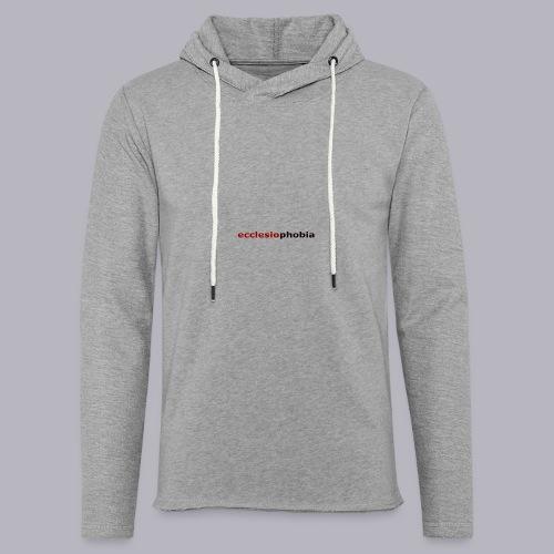 ecclesiophobia napis - Lekka bluza z kapturem