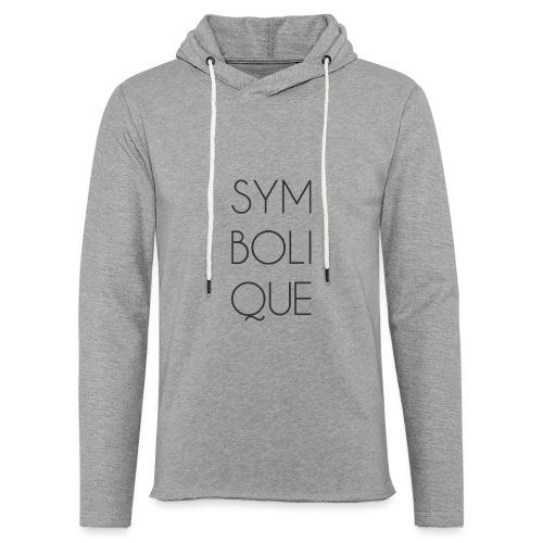 Symbolique - Sweat-shirt à capuche léger unisexe