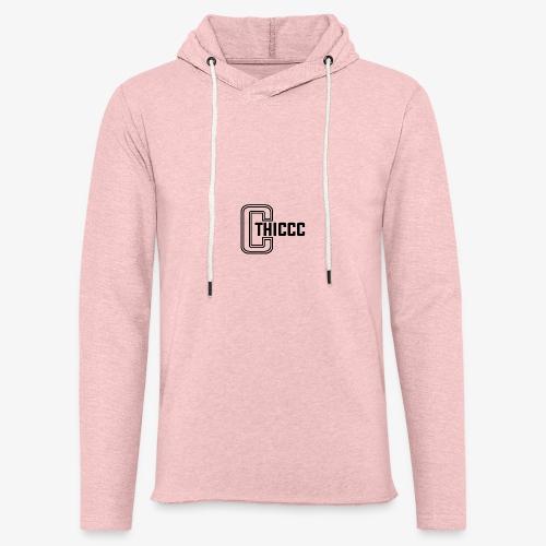 thiccc logo White - Light Unisex Sweatshirt Hoodie