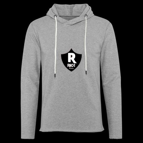 riot Nation logo schwarz - Leichtes Kapuzensweatshirt Unisex