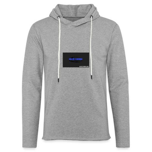 Schwarzes logo4 - Leichtes Kapuzensweatshirt Unisex