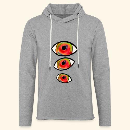trompe L'oeil_Pastel - Sweat-shirt à capuche léger unisexe