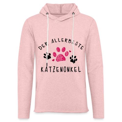 Der allerbeste Katzenonkel - Leichtes Kapuzensweatshirt Unisex