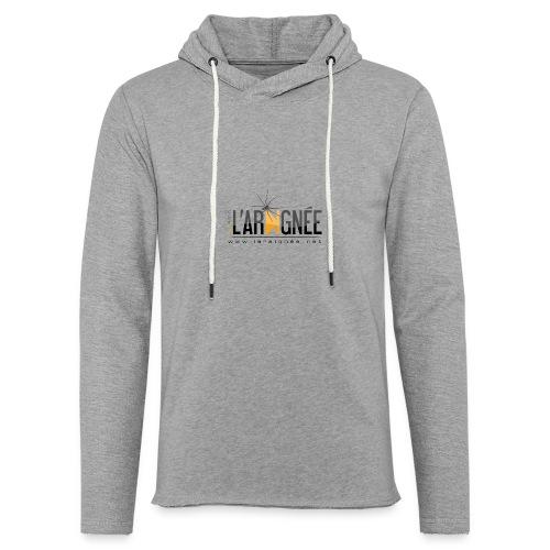 L'ARAIGNÉE, logo noir - Sweat-shirt à capuche léger unisexe