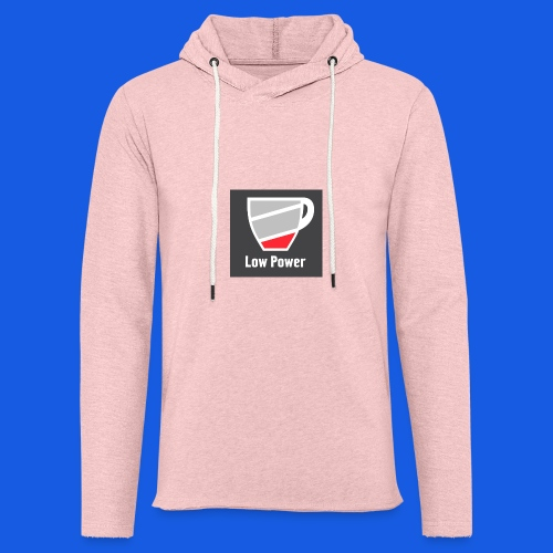 Low power need refill - Let sweatshirt med hætte, unisex