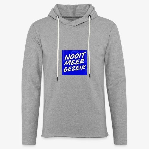 De 'Nooit Meer Gezeik' Merchandise - Lichte hoodie unisex