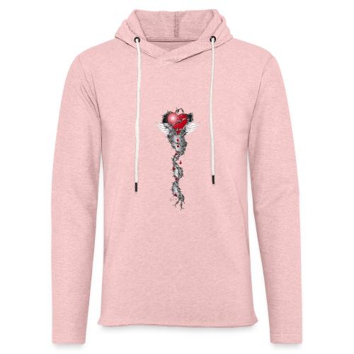 Barbwired Heart 2 - Herz in Stacheldraht - Leichtes Kapuzensweatshirt Unisex
