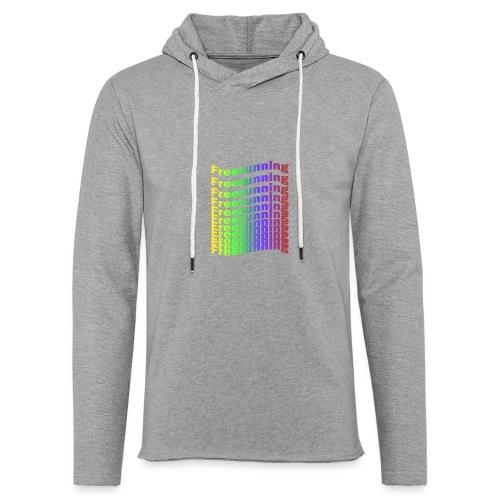 Freerunning Rainbow - Let sweatshirt med hætte, unisex