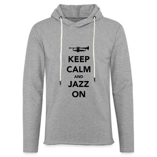 Keep Calm and Jazz On - Trumpet - Light Unisex Sweatshirt Hoodie