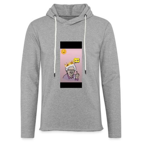 Crazy Grandma - Leichtes Kapuzensweatshirt Unisex