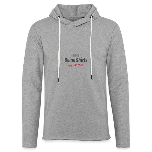 Dein Design - Leichtes Kapuzensweatshirt Unisex