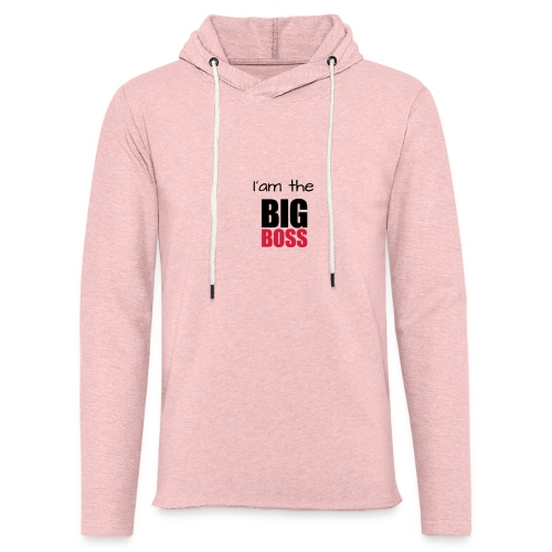 I am the big boss - Sweat-shirt à capuche léger unisexe