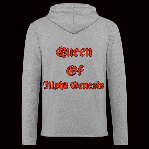Queen of Alpha - Leichtes Kapuzensweatshirt Unisex