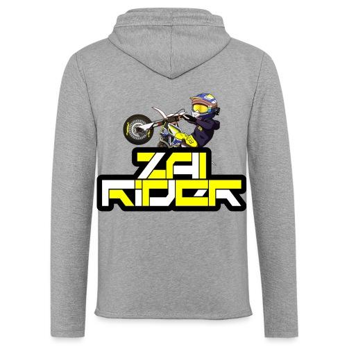 LOGO ZAI RIDER - Sweat-shirt à capuche léger unisexe