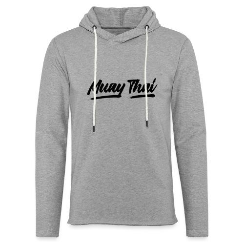 muay thai - Sweat-shirt à capuche léger unisexe