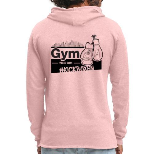 Gym in Druckfarbe schwarz - Leichtes Kapuzensweatshirt Unisex