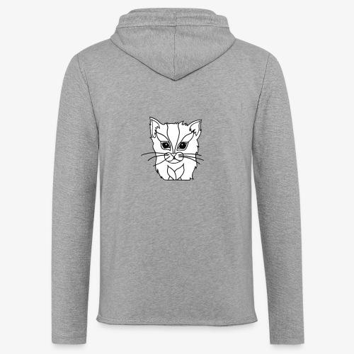 designchatblanc - Sweat-shirt à capuche léger unisexe