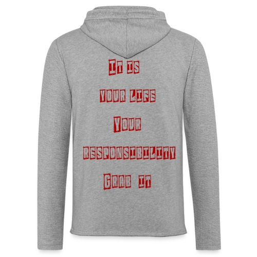Responsibilit - Let sweatshirt med hætte, unisex
