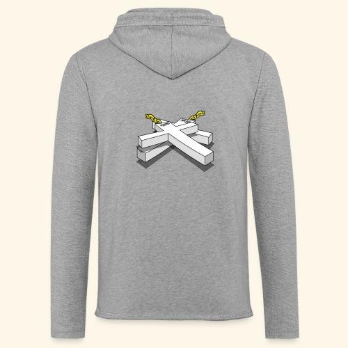 Gold Crosses - Felpa con cappuccio leggera unisex