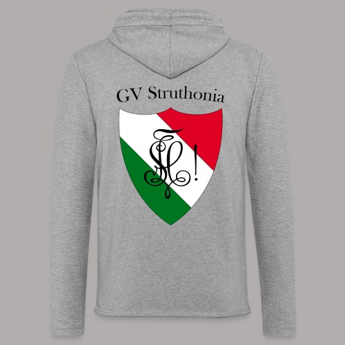 Wappen Struthonia beschriftet - Leichtes Kapuzensweatshirt Unisex