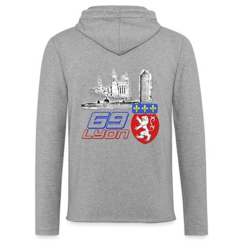 69 Lyon - Sweat-shirt à capuche léger unisexe