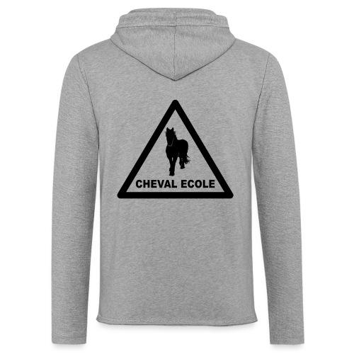 chevalecoletshirt - Sweat-shirt à capuche léger unisexe