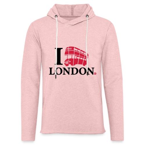 I love (Double-decker bus) London - Light Unisex Sweatshirt Hoodie