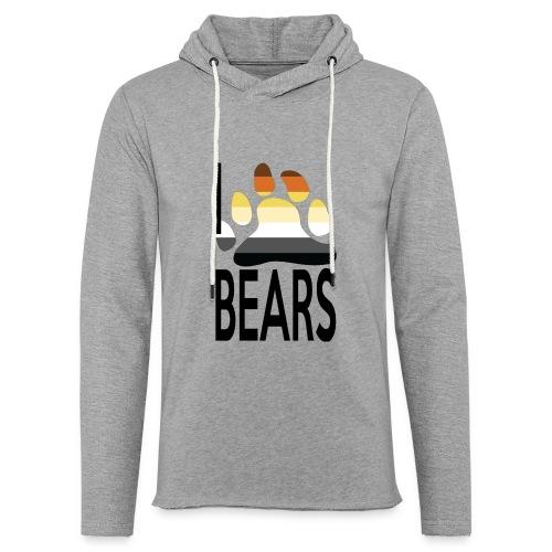 I love bears - Sweat-shirt à capuche léger unisexe