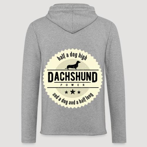 Dachshund Power - Lichte hoodie unisex