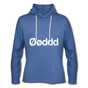 Øøddd (hvid skrift) - Let sweatshirt med hætte, unisex