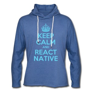 KEEP CALM AND REACT NATIVE SHIRT - Leichtes Kapuzensweatshirt Unisex