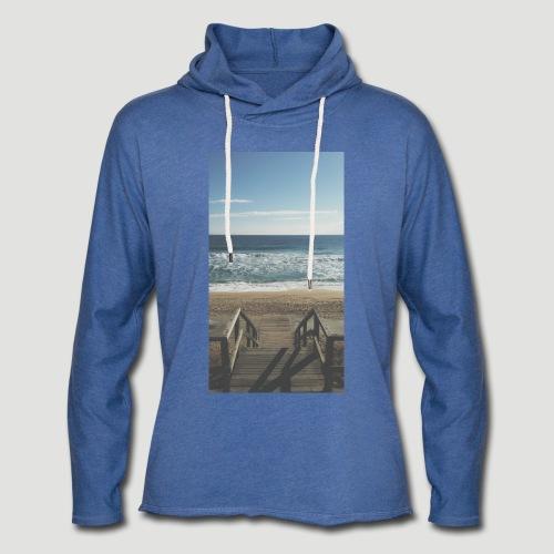 Escalera a la playa - Sudadera ligera unisex con capucha