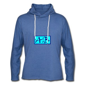 AtoB Logo light blue - Light Unisex Sweatshirt Hoodie