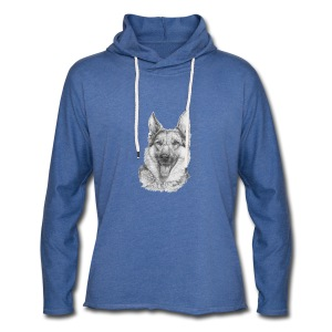 Schæfer German shepherd - Let sweatshirt med hætte, unisex