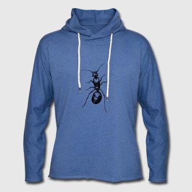transparent ant - Leichtes Kapuzensweatshirt Unisex