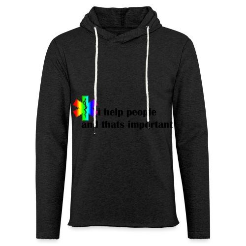 i help people - Lichte hoodie unisex