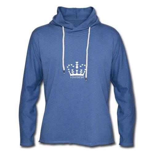White Lovedesh Crown, Ethical Luxury - With Heart - Light Unisex Sweatshirt Hoodie