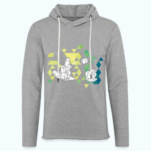 Geometric crystals - Light Unisex Sweatshirt Hoodie