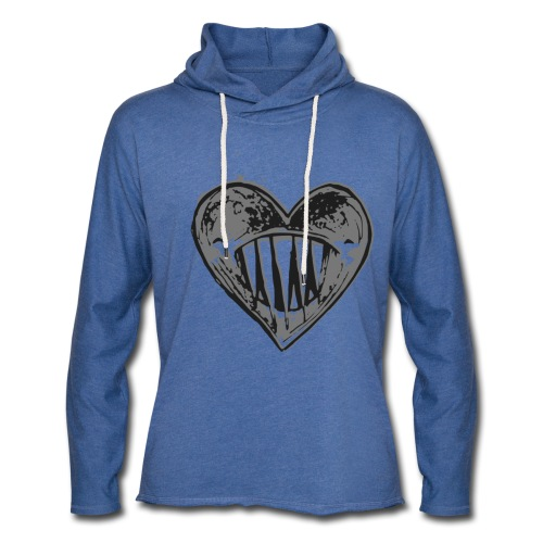 Corazón Negro - Sudadera ligera unisex con capucha