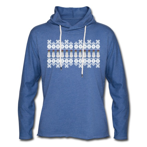Ugly Christmas Weihnachten Xmas Norweger Design - Leichtes Kapuzensweatshirt Unisex
