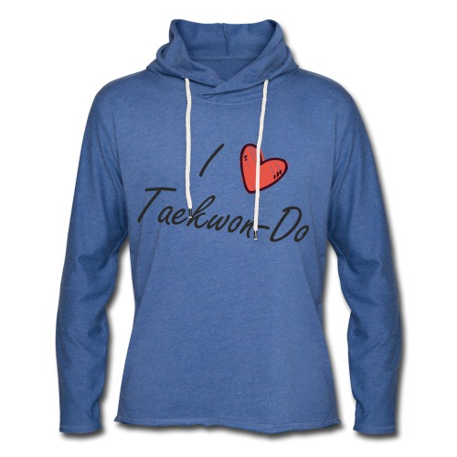 I love taekwondo letras negras - Sudadera ligera unisex con capucha