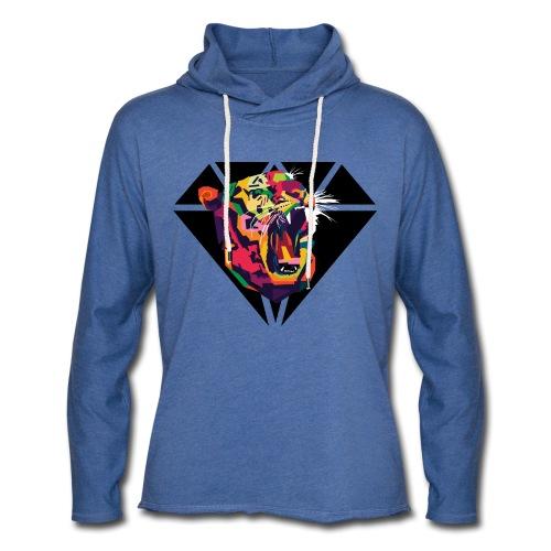 Tiger Hipster Design - Leichtes Kapuzensweatshirt Unisex