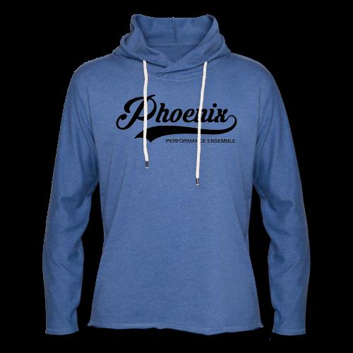 Phoenix Retro Black - Leichtes Kapuzensweatshirt Unisex