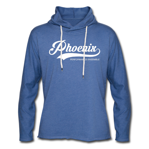 Phoenix Retro White - Leichtes Kapuzensweatshirt Unisex
