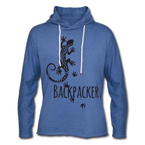 Backpacker - Running Ethno Gecko 1 - Leichtes Kapuzensweatshirt Unisex