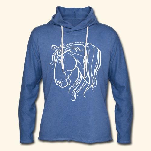 Cheval espagnol (blanc) - Sweat-shirt à capuche léger unisexe