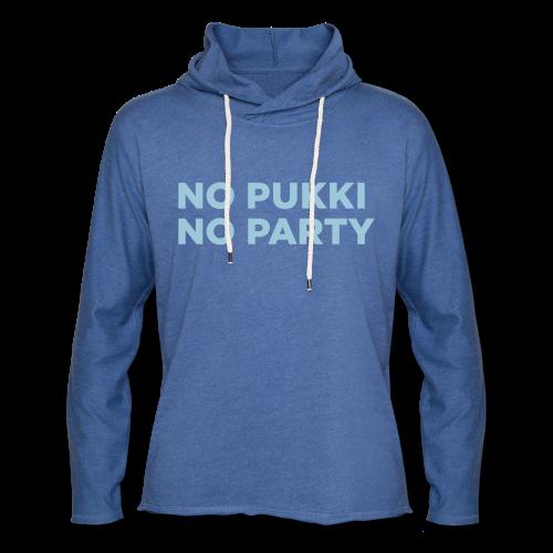 No Pukki, no party - Kevyt unisex-huppari